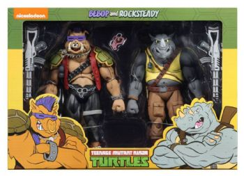 NECA Teenage Mutant Ninja Turtles Cartoon Series 2 Rocksteady and Bebop 2 Pack